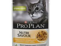 Упаковка паучей 24 шт Purina Pro Plan NutriSavour Sterilised feline with Chicken in gravy